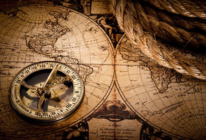 Компас куда показывает красная стрелка компаса