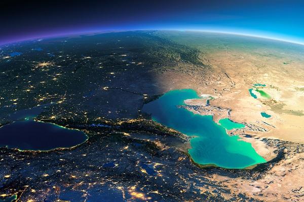 Каспий из космоса