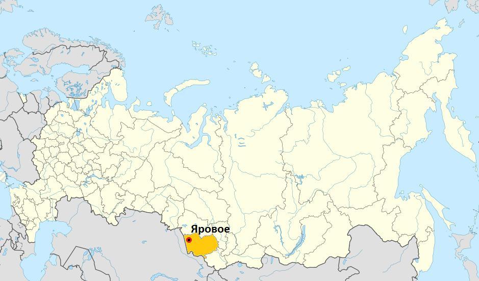 Яровое на карте России
