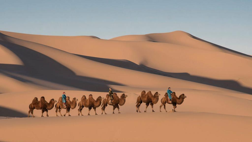 Экзотический ландшафт пустыни Гоби