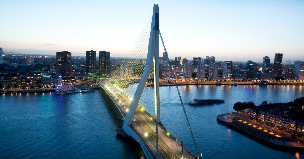 Мост, напоминающий лебедя