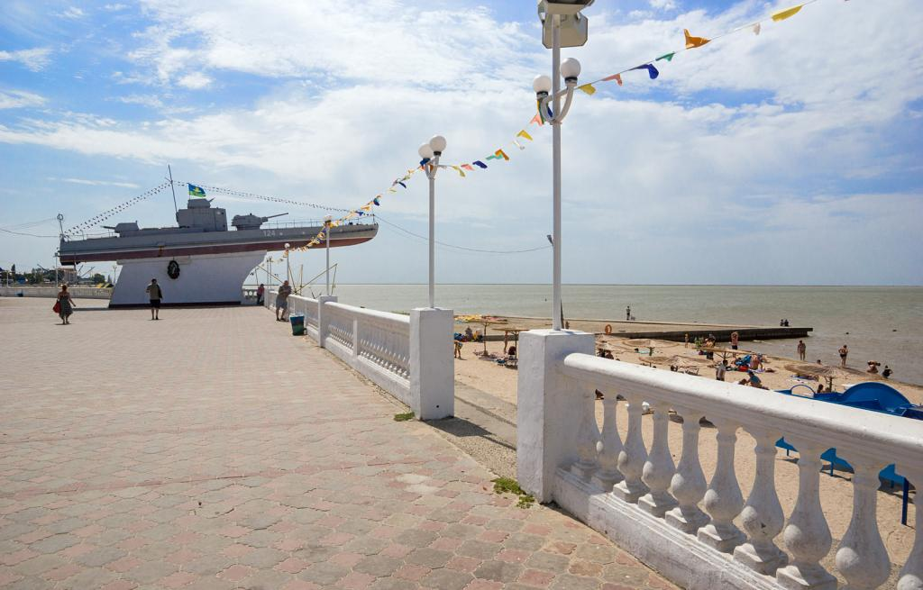 Курорт Приморско-Ахтарск, пляж